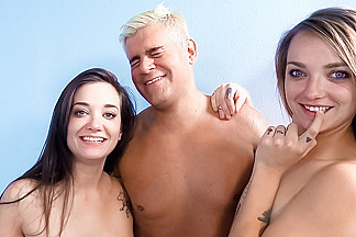 Gia Paige & Carmen Callaway & Porno Dan in Gia & Carmen Have a Teensome With The Sultan Of Porn - ImmoralLive