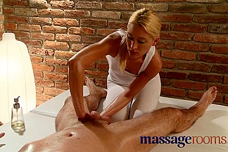 Massage Rooms Excited masseuse has a squirting big O