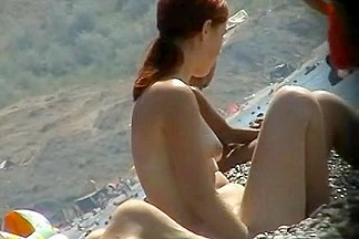 Skillful voyeur smuggled a camera to a nudist beach