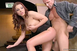 Cute gal Angel Rivas is double penetrated