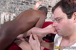 Domina gets bbc facial