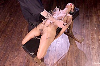 Skin Diamond & The Pope in Skin Diamond Is Tormented In Brutal Bondage And Made To Cum - HogTied