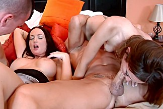 Incredible pornstars Jenaveve Jolie and Sativa Rose in exotic big tits, cumshots sex scene