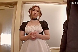 Amazing Japanese whore Ai Sayama in Horny Maid, Big Tits JAV movie