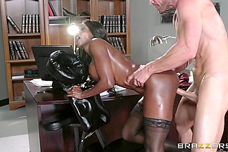 Diamond Jackson & Johnny Sins in Oily Office - Brazzers