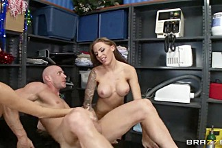 Johnny Sins with two gorgeous and hardcore porn stars Juelz Ventura and Kortney Kane
