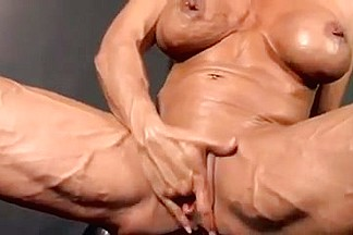 two muscular mature women