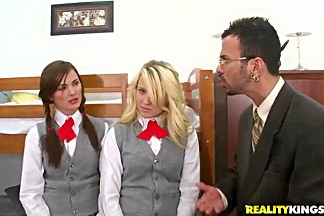 Two remarkable school girls must fuck an mature director