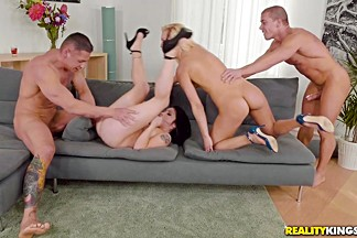 Rina Ellis & Cecilia Scott & Sabby in One Hot Foursome - EuroSexParties