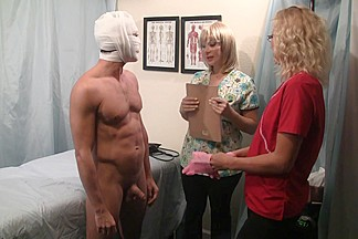 Prostate Exam Becomes a Cumshot Treatment