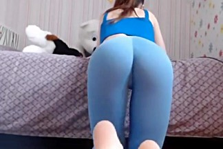Masturbation college girl spandex show