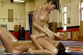 Two sexy babes fighting feat. Doris Ivy