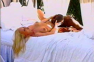 Blond czech angel with dark chap