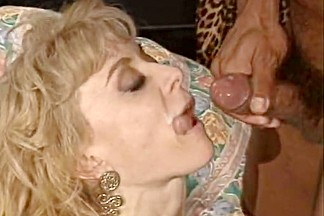 Horny retro scene with Nina Hartley and Peter North