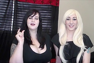 2 gorgeous college girl  dommes humiliate tiny dick loser