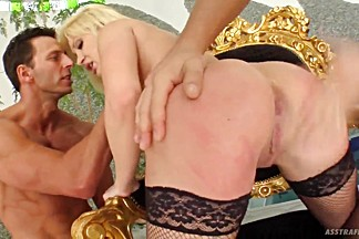 Blonde Slut Gets Dicks Into Mouth And Ass
