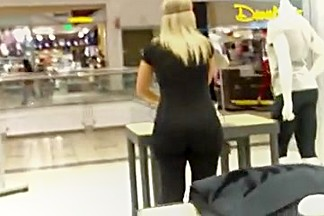 PAWG Clerk Wearing Tights