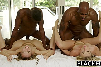 BLACKED First Interracial Foursome for Karla & Jillian