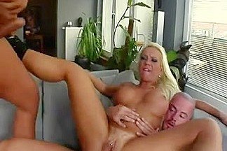 Busty Blonde Woman Goes Wild