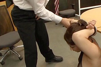 Crazy Office Gangbang With Chihara Nakai In The Middle