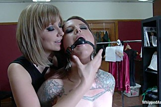 Crazy fetish, lesbian porn video with horny pornstars Vivienne Del Rio and Maitresse Madeline Marlowe from Whippedass