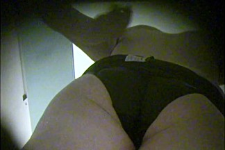 Seductive full back panty view from amateur in dressing room