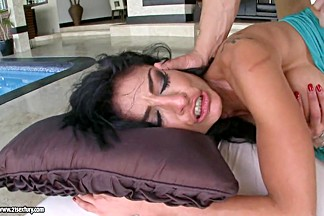 Persia Pele enjoys the meaty erect cock pleading for one wild blowjob