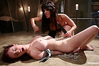 Exotic fetish, squirting porn movie with hottest pornstars Gia DiMarco and Iona Grace from Whippedass