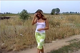 Perfect Body Blond Katalin Bent Over The Hood For Deep Sex