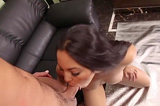 Amazing pornstar Adrianna Luna in crazy blowjob, facial sex scene