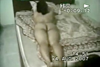 Chubby indian girl takes a shower and blows her husband on the bed