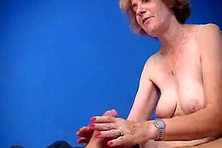 French curly granny love anal