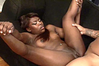 Chocolate skin honey gets nailed doggy style indoors