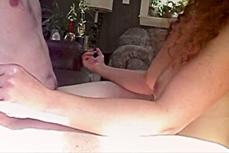 Busty wife handjob compilation