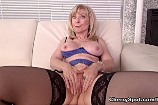 Exotic pornstar Nina Hartley in Fabulous Masturbation, Big Tits adult clip
