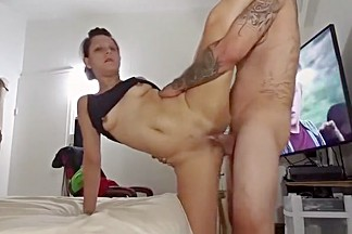 Tattooed gal fucked from behind