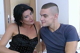 Hot milf and her younger lover 77