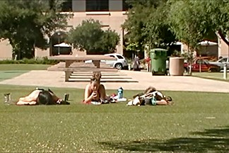 Around Campus Series 1: three Fuckables in Bikinis