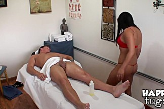 Adrianna Luna giving hot massage to Ashton Kilmer