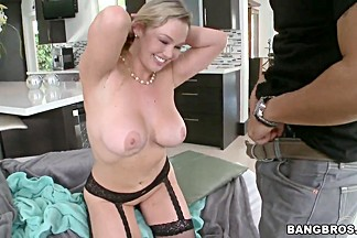 Curvy milf Abbey Brooks in lingerie get naughty
