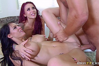 Monique Alexander & Peta Jensen & Danny Mountain in Our New Maid: Part Four - Brazzers