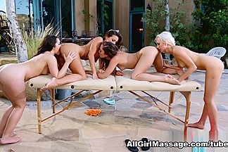 Lola Foxx, Abigail Mac, Remy LaCroix, Natasha Voya in Trick Or Retreat Scene