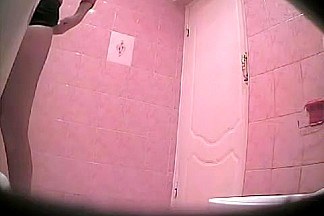 Girl came to wc, fixed her panty and pissed on the spy cam