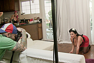 Joanna Angel & Nina Elle & Saya Song & Sheridan Love & Dahlia Sky in BTS Episode 95 - BurningAngel