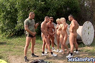 Outdoor group fuck games