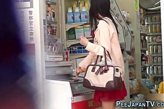 Teen asian pee public