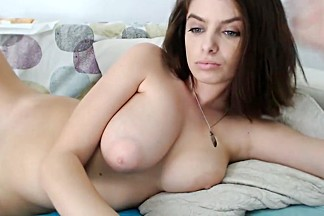 Busty blue-eyed cam-slut