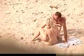 Nasty pair fucking on the beach