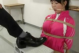 Japanese Schoolgirl Bound And Drilled in Classroom