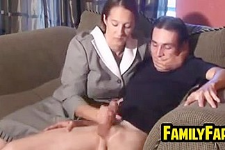 Mother In Law Gives A Handjob